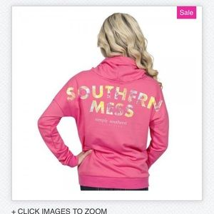 Simply Southern Southern Mess Cowl Neck Sweatshirt